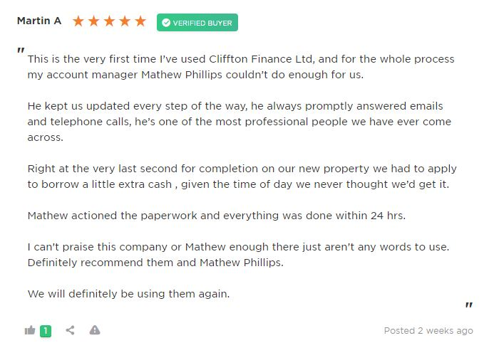 Review of Mathew Phillips Clifton Private Finance mortgage broker