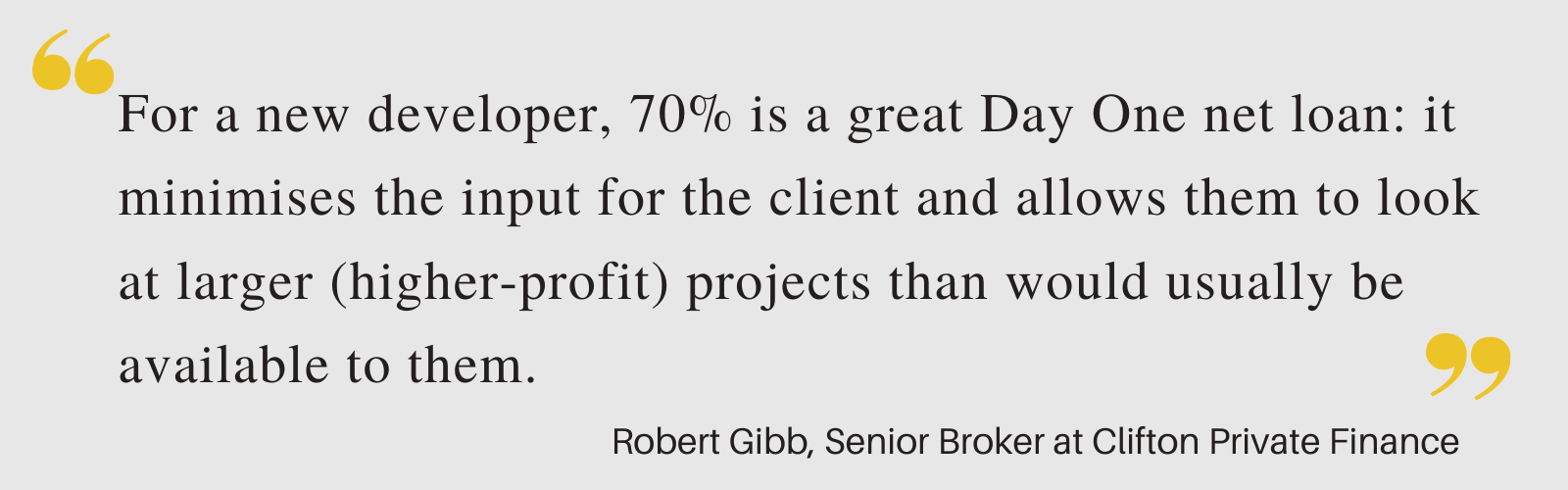 Robert-Gibb-Quote-70-Percent-Net-Bridging-Loan-For-Flat-Development-In-London