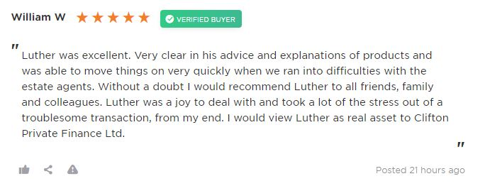 Review of Clifton Private Finance by barrister client