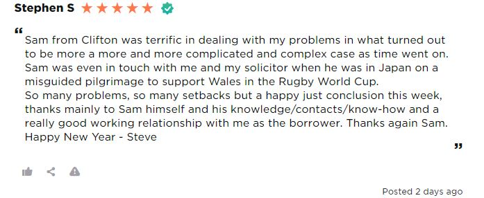 Review of mortgage advisor Sam ONeill Clifton Private Finance