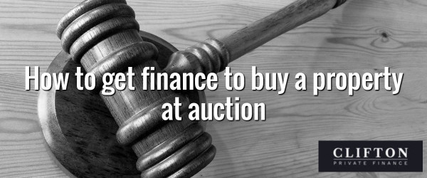 How to get finance to buy a property at auction